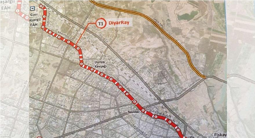 Diyarbakır'da hafif raylı sistemde ilk aşama