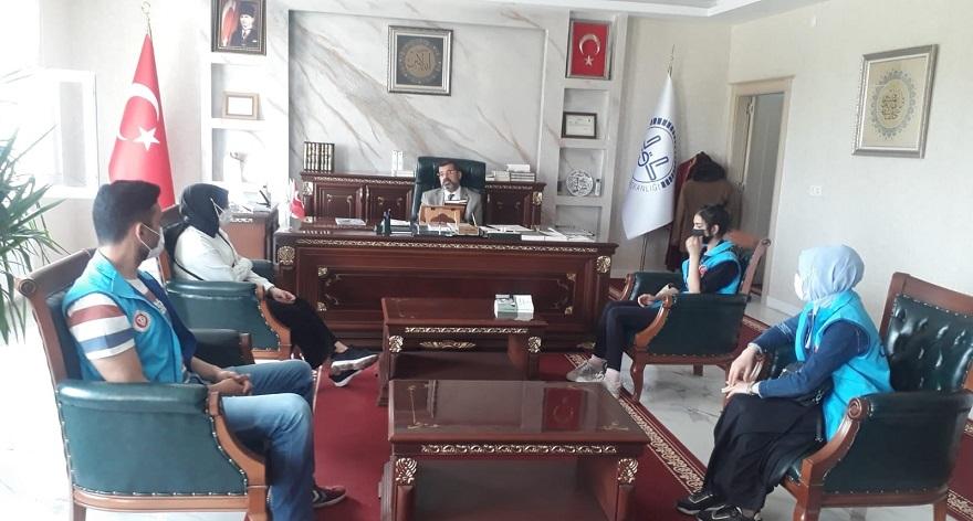 Türkiye Diyanet Vakfı Bismil Şubesi Gönüllülerinden Müftü Durmuş'a ziyaret