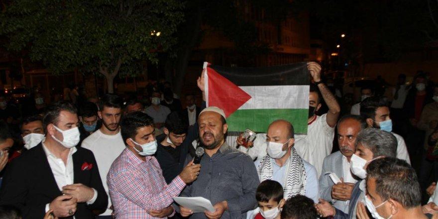 İSRAİL'İN MESCİD-İ AKSA SALDIRILARI BİSMİL'DE PROTESTO EDİLDİ