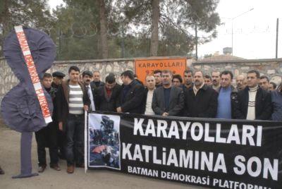 Batman'DA KARAYOLLARI ŞUBESİNE SİYAH ÇELENK
