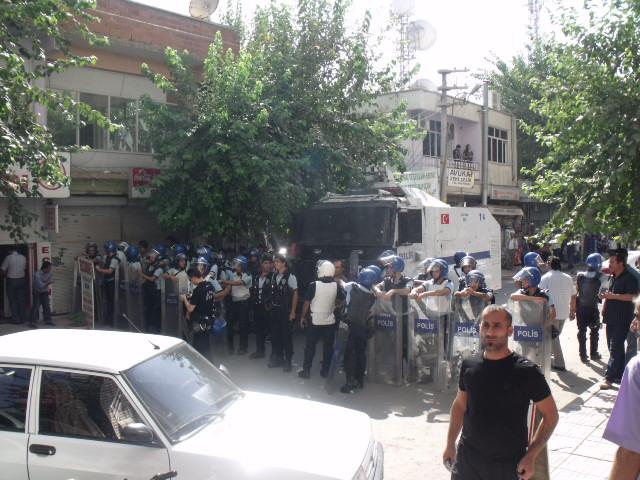 Bismil'de Protesto yürüyüşü