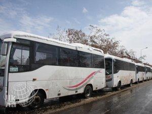 Şehirlerarası çalışan otobüsler kontak kapattı