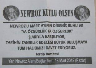 Diyarbakır'da Nevruz afişleri toplatıldı