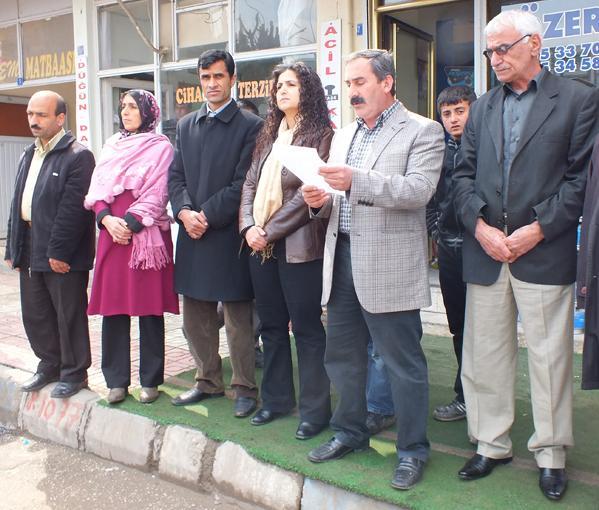 Bismil'de Türk'e yapılan saldırı protesto edildi.