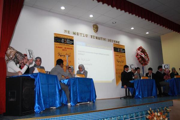 Bilgi Yarışmasında Bismil Mecit Çelik Anadolu İmam Hatip Lisesi Birinci