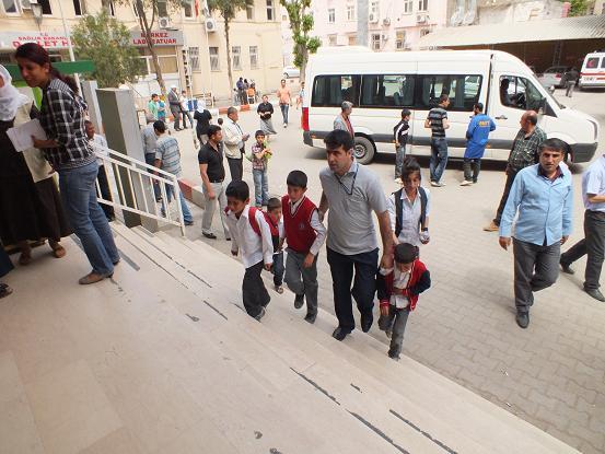 Bismil'de Öğrenciler Sütten zehirlendi