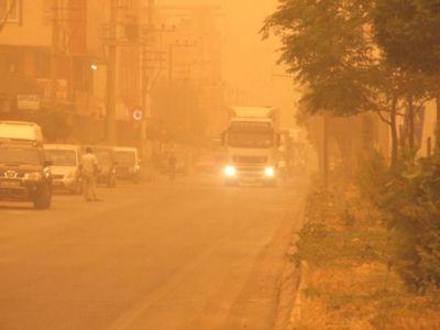 Bismil'e Toz Bulutu Kapladı