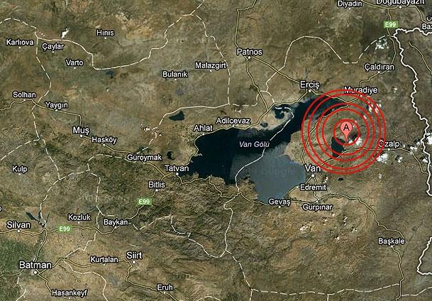 Van'da 5,0 büyüklüğünde deprem