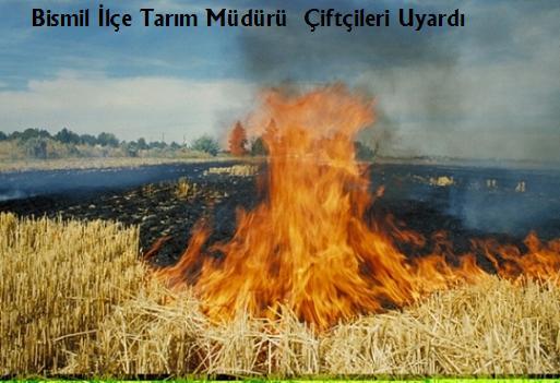 Bismil İlçe Tarım Müdürü  Çiftçileri Uyardı