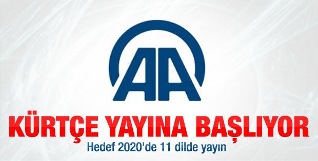 Anadolu Ajansı Kürtçe yayın yapacak