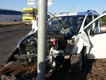 Batman-Bismil üç yolunda trafik kazası