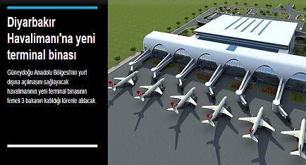 Diyarbakır Havalimanı'na yeni terminal binası