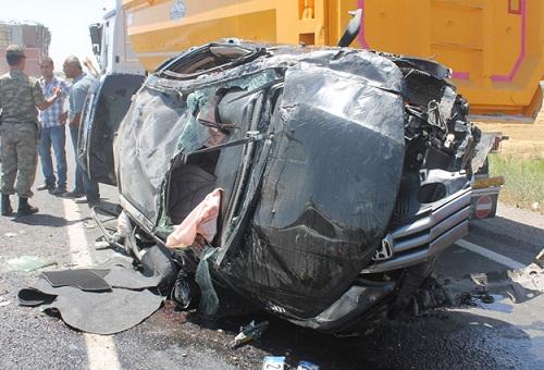 Taziye yolunda facia kaza 1 ölü