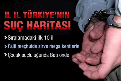 Türkiye'nin 'suç haritası' çıkarıldı