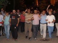 Bismil'de darbe karşıtı gösterisi sabaha kadar devam etti