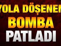 Bismil'de Yola Döşenen Bomba Patladı