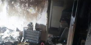 Bismil'de bir ev kül oldu