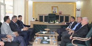 Kaymakam Gülenç'ten, AK Parti ilçe Başkanına Hayırlı olsun ziyareti