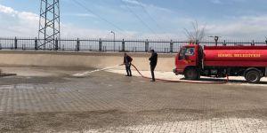 Bismil Belediyesinden okullarda bahar temizliği