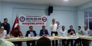 Bismil ilçesinde Eğitim-Bir-Sen tarafından iftar programı düzenlendi.