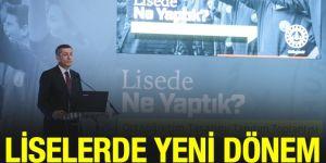 Milli Eğitim Bakanı Ziya Selçuk, liselerde yeni sistemi anlattı.