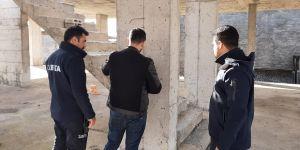 Bismil'de 12 inşaat mühürlendi