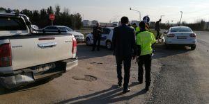 Bismil'de Maddi Hasarlı Trafik Kazası Meydana Geldi