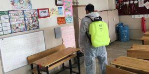 Bismil'de  okullar dezenfekte edildi