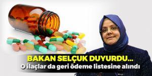 Bakan Selçuk: 32 ilacı daha geri ödeme listesine aldık