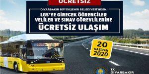 Diyarbakır'da LGS'ye girecek öğrencilere ücretsiz ulaşım