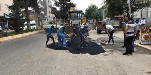 Belediye Asfalt Yama Çalışmalarına Başladı.