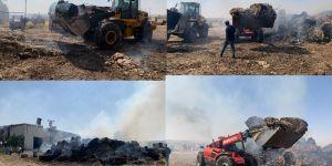 Bismil'de pamuk yağı fabrikasında yangın çıktı.