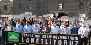 Diyarbakır'dan Fransa'ya tepki: İslam'a karşı açtığınız savaşı kazanamayacaksınız