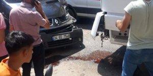 Bismil Belediye aracı kaza yaptı.