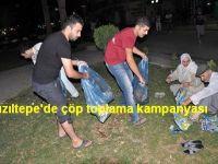 Kızıltepe'de çöp toplama kampanyas
